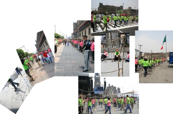 ambulantes_recorrido por el zócalo_México Df