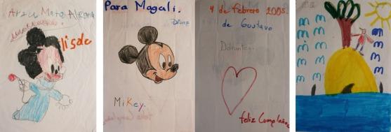 obsequios_dibujos de Gustavo D, Arzu MA e Iván Alfonso RM