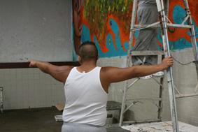 el bolsón_taller mural