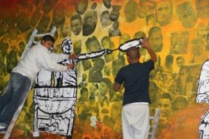 mural y cocineros