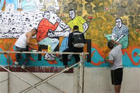 proceso mural_el padua- el kalimba-el mamado